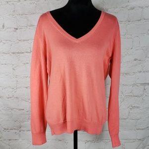 Vineyard Vines coral v neck sweater size XL